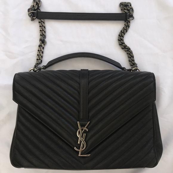 c6854333117 Yves Saint Laurent Bags   Ysl Handbag Mang College L W Poncho Nero ...